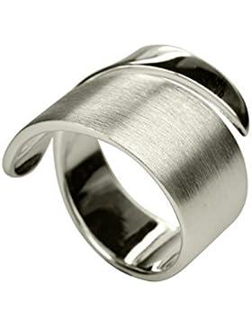 SILBERMOOS XL-XXL Ringe in großen Größen Damen-Ring offen diagonal Bandring spitz matt glänzend Größe 62, 64,...