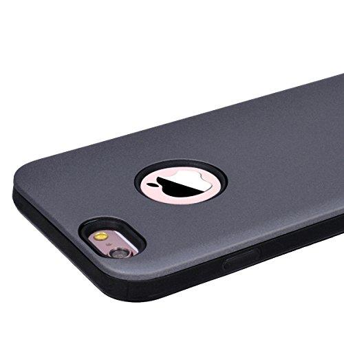 Yokata Cover per iPhone 6S Plus / 6 Plus Custodia per iPhone 6S Plus / 6 Plus gel Silicone Case Durevole TPU Backcover Protettiva Caso Premium Ultra Sottile Bumper Antiurto Protezione Shell + Penna -  Grigio