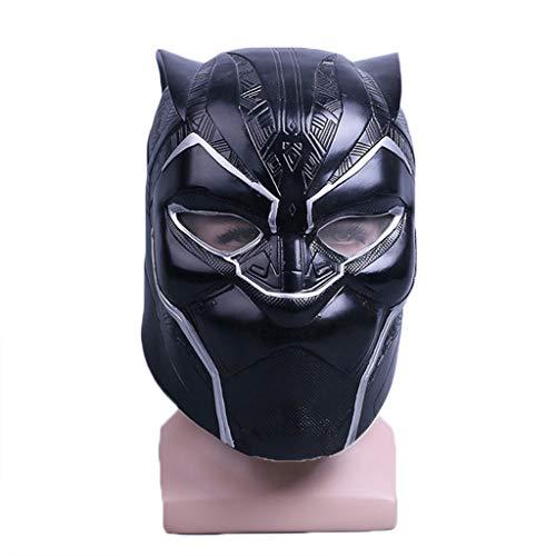 Marvel Legends Serie Black Panther Helm Maske PVC - Perfekt für Karneval und Halloween - Kostüm für Erwachsene - Latex, Unisex Schwarz,Black ()