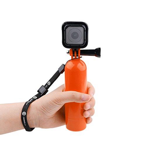 Galleggiante per GoPro CamKix / Impugnatura Galleggiante con Telecamera e Cavalletto / Asta per GoPro Hero 5, 4, 3+, 3, 2, 1 / Vite a Galletto e Cordino da Polso inclusi