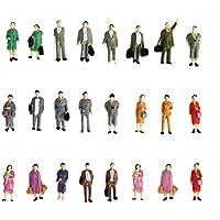 24pcs Pintado Modelo Tren de pie personas figuras báscula HO (1A 87) P87–12
