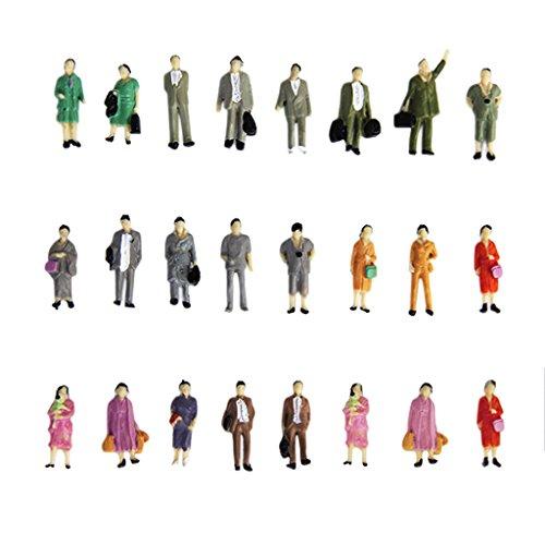24 Stück Painted Modellbahn Stehen Menschen Figuren Maßstab HO (1 bis 87) P87-12 Modellbahn-figuren