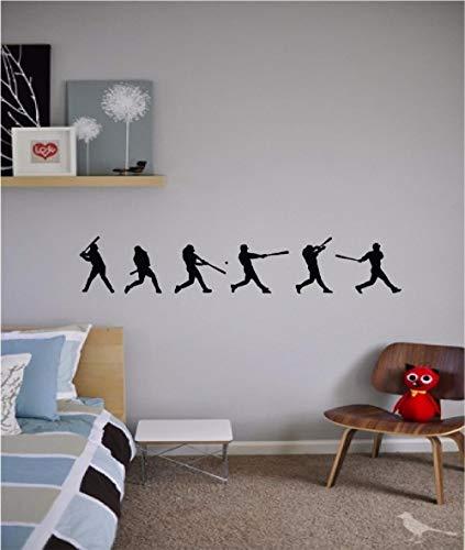 Baseball Source Boys Kids Play Persionalized Wohnzimmer Schlafzimmer Abnehmbare Wandaufkleber Wandbilder 12x72cm
