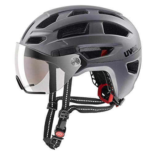 Uvex Casco de Bicicleta de Trekking Finale Visor City Gris 2019, 56-61 cm