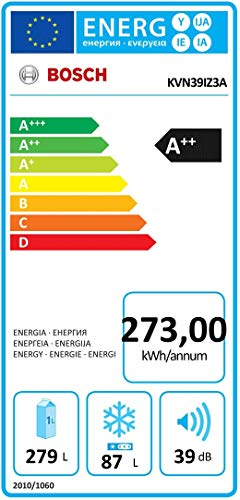 Bosch KVN39IZ3A Kühl-Gefrier-Kombination VarioStyle Schwarz mit austauschbarer Farbfront/A++ / 279 l / 203 cm/NoFrost, VitaFresh, EasyAccess Shelf