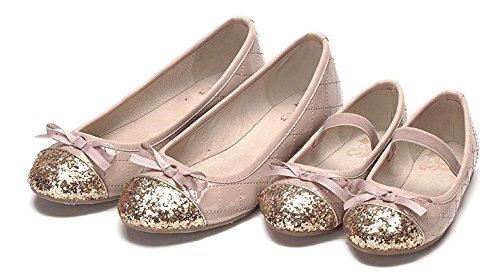 35b9dae9e82f ... Ohmais Enfants Filles Chaussure cérémonie Ballerines à bride Fête  Demoiselle d honneur Mariage Escarpin plat ...