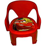 Samaaya Strong And Durable Kid's Plastic Multipurpose Chu Chu Chair (Red)