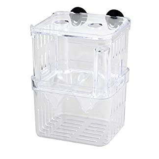 DealMux Aquarium Multi-functional Isolation Self Floating Clear Double-deck Divider Fish Tank 13