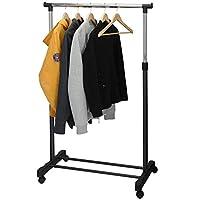 Puregadgets© Adjustable Mobile Tidy Clothes Coat Garment Hanging Rail Rack Storage Stand Castors on Wheels