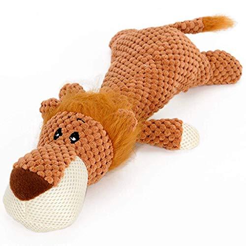 WANNA.ME Haustier Katze Hund Quietschendes Spielzeug Squeaker Sound Chew Fetch Interaktives Plüschtier (Khaki, Einheitsgrösse)