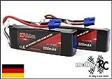 molinoRC | 2 Akkus | KPAMax | LiPo-Pack 3S 11,1V 2200mAh 50C > Update 2018 < | Besser als Turnigy | Deutscher Händler + Expressversand aus BRD
