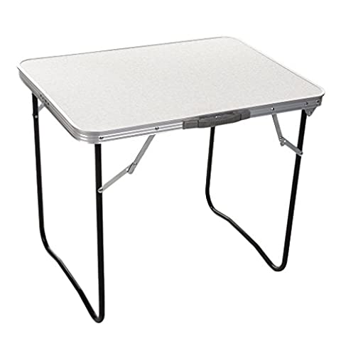 LUCKYKS Folding Tables Portable Folding Aluminum Square Table for Outdoor