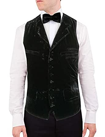 Alexander Dobell Men's Waistcoat -  Black - 48R