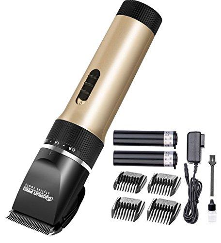 Restbuy Elektronische Haarschneider Set Haarschneidemaschine Bartschneide mit 4 Kammaufsätze Wiederaufladbare Haartrimmer für Kinder und Herren (X6)