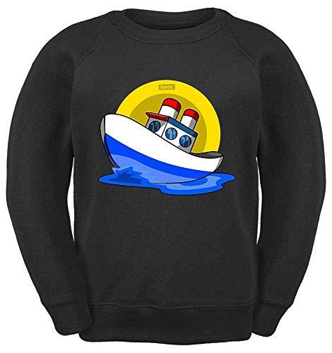 HARIZ Kinder Sweater Boot Auto Polizei Plus Geschenkkarte Schwarz 164/14-15 Jahre -