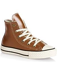 Converse Chuck Taylor All Star High Leather Zapatillas Niños Color Marrón