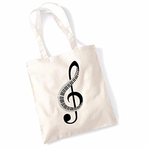 Print Canvas Shopper (Tote Bag For Women Piano Music Note Slogan Print Shopper Shoulder Canvas Bags 100% Cotton)