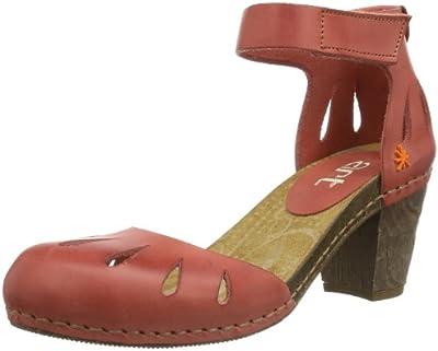 ART I MEET 0144 MOJAVE GRANADA - Sandalias de cuero para mujer, color rojo, talla 36
