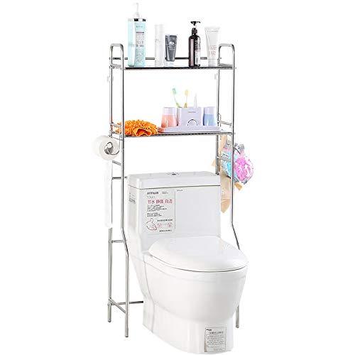 Regal Badezimmer Space Saver, 2-Tier BüGeleisen Wc Handtuch Storage Rack Halterung üBer Dem Bad Toilette Regal Organizer Mit 3 Haken, Weiss - 3-tier-handtuch-regal