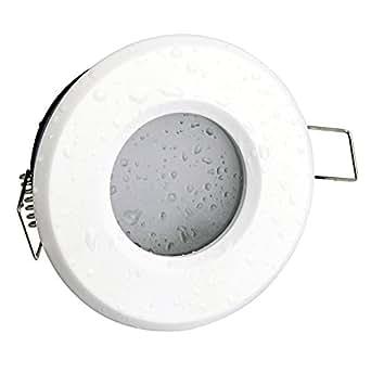 Spot encastrable iP65 blanc mat 230 v gU10 (ampoules non incluses) pour lED et halogènes 49 à 51 mm