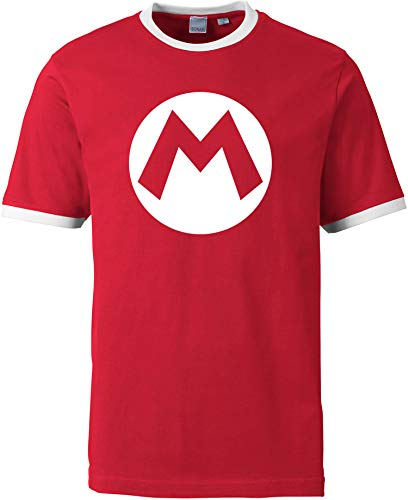 AngryShirts Mario Kostüm T-Shirt Herren | Männer Shirt