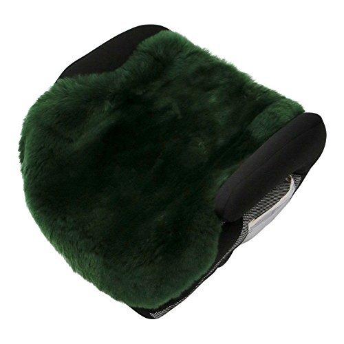 Lammfell - AUTOSITZ Einlage Sitzunterlage Auflage Rückenschoner Farbe Moosgrün