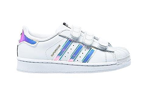 adidas Superstar CF, Chaussures Marche Mixte Bébé, Blanc (Ftwr White/Ftwr White/Metallic Silver/Sld), 24 EU