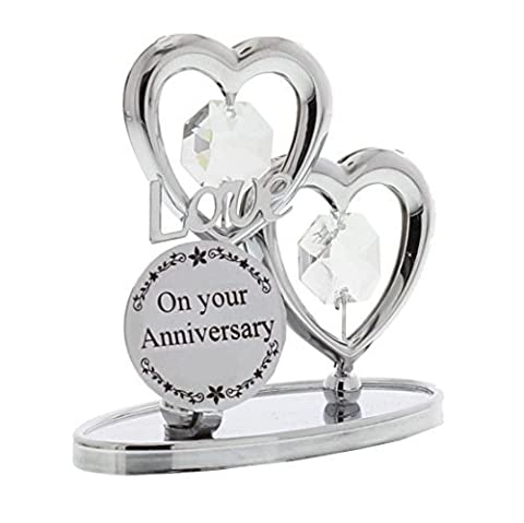 Crystocraft Keepsake Gift - Chrome Plated On Your Anniversary Gift