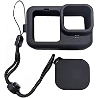 Yantralay Silicone Lanyard Sleeve Protective Cover & Silicone Lens Cap Compatible with GoPro Hero 9 Black Action Camera…