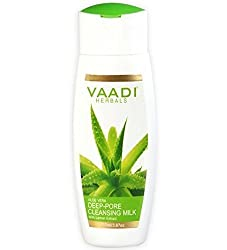 Vaadi Herbals Value Aloevera Deep Pore Cleansing Milk with Lemon Extract, 3 x 110ml