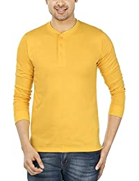 Weardo Mens Henley Neck T-shirt With Full Sleeves