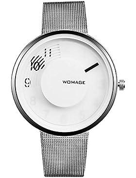 Mode Einfach Kreativ Legierung Uhrenarmband Quarz Damen Armbanduhren, Silber
