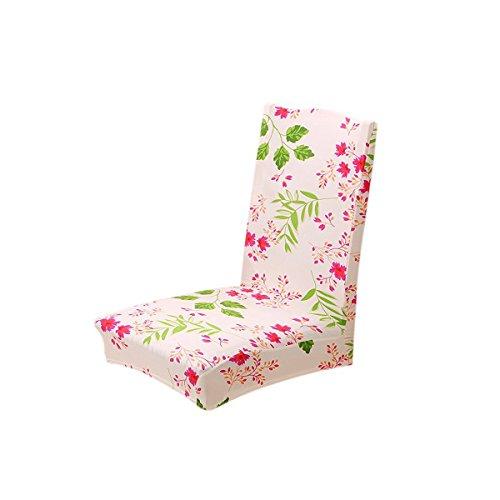 Pixnor Housse de chaise stretch Housse en courte Chaise de salle à manger amovible pour cérémonie Hôtel Dinning Room Sakura Amour