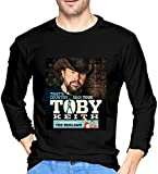 Photo de Toby Keith Men's Comfort Soft Long Sleeve Outdoor T Shirt 100% Cotton Printing T-Shirts Tee Black par aiGosry