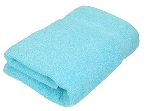 BETZ Serviette de Toilette Taille 50 x 100 cm 100% Coton Palermo Rose Turquoise Vert Abricot ou Gris Anthracite Couleur Turquoise