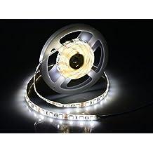 Luce di striscia SMD 5050 60LEDs/M del nastro della luce di striscia impermeabile adesivo flessibile a LED per la casa Cucina Camera della decorazione del giardino (bianco 200cm)