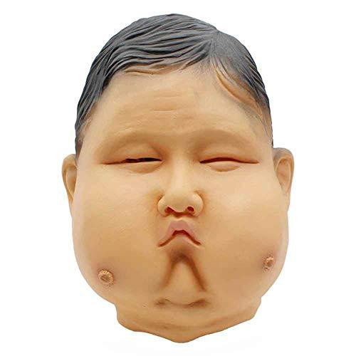 Jke pan 2018 Halloween Karneval Bar Party Ball Lustige Scary Requisiten Kopfbedeckung Simulation Fett Cos Maske