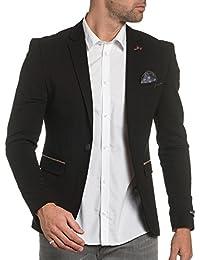 BLZ jeans - Veste de costume homme city noire à coudières