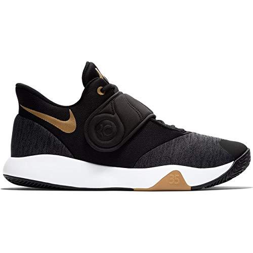 9544ac50d6b ... Nike Men s KD Trey 5 VI Black Metallic Gold-White Basketball Shoes  (AA7067
