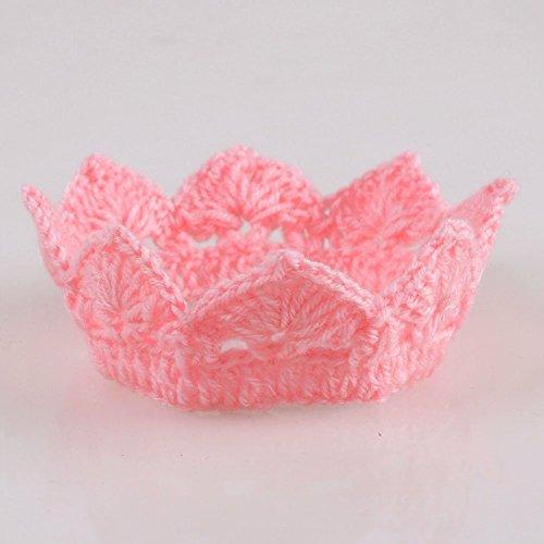 foopp-Lovely-nuevo-hecho-a-mano-recin-nacido-beb-nia-nio-ganchillo-Knit-corona-sombrero-y-xFF08-Rosa-y-xFF09