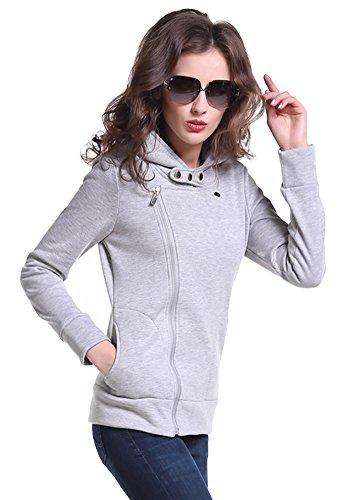 JKQA - Sweat-shirt - Décontracté - Femme gris clair