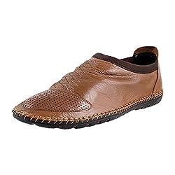Mochi Mens Tan Formal Shoes-Euro42/Uk8