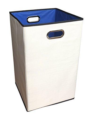 sodynee 2er Pack 58,4cm Closet Wäschekorb, zusammenklappbar Kleidung behindern Sortiermaschine Korb Bin, beige (Behindern, Kleidung Baby)