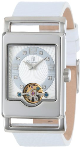 Burgmeister-Delft-Womens-Automatic-Watch-with-White-Dial-Analogue-Display-and-White-Leather-Strap-BM510-186