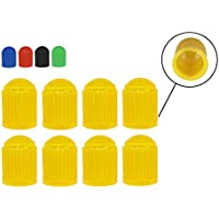 4 Stück gelbe Würfel Ventilkappen für Autos PKW LKW Motorrad NEU