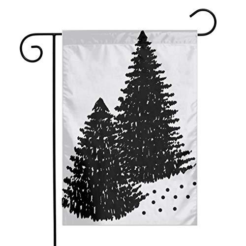 Quilt Block - Pine Trees Art Garden Flag Yard Flag 12