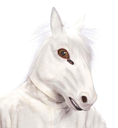 Kostüm Kopf Pferde (Widmann–Maske Pferd mit Haar aus)