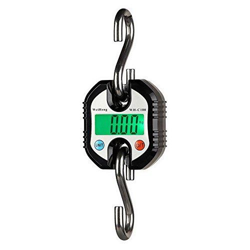 Riverry Bilancia per Bagagli, Mini Gru Portatile LCD Digitale Gancio elettronico Bilance sospese Loop Bilancia Digitale Viaggio Postale