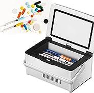 Insulin Cooler Case USB Mini Medicine Refrigerator Portable Insulin Cooler Box, 10200mAh Battery&Bag, for