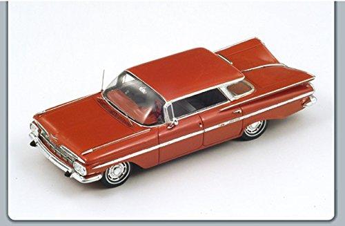 chevrolet-impala-sedan-four-windows-1959-lobster-red-143-spark-model-auto-stradali-modello-modellino